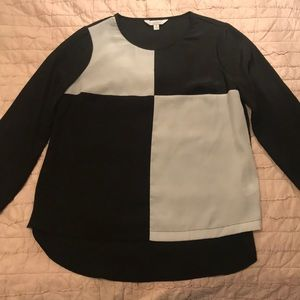 Charming Charlie Black and White Checker Top